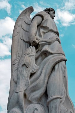 Statue of Archangel Rafael on the top of Tepeyac Hill in Mexico City