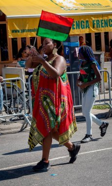 NEW YORK CITY - SEPTEMBER 16, 2018: African American Day Parade in Harlem