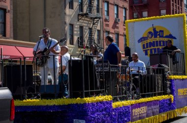 NEW YORK CITY - SEPTEMBER 16, 2018: Musicians at African American Day Parade in Harlem