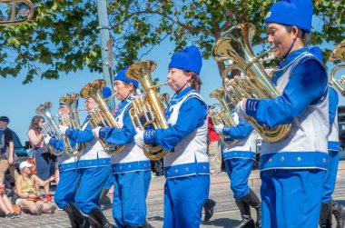 San Francisco, California - October 7, 2018: 150th Italian Heritage Parade in San Francisco, USA