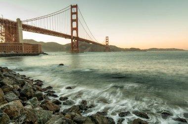 Golden Gate Bridge during sunset, San Francisco, USA
