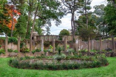Ipswich, MA, USA- October 12, 2018 : The Rose Garden in Castle Hill in Ipswich, Massachusetts, USA. U.S. National Historic Landmark