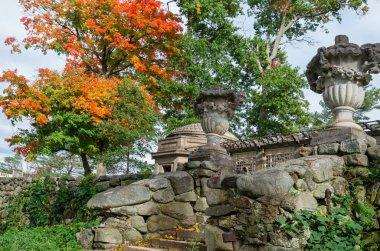 Ipswich, MA, USA- October 12, 2018 : Garden in Castle Hill in Ipswich, Massachusetts, USA. U.S. National Historic Landmark
