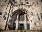 Fotografie Detroit Masonic Temple. The building contains a variety of public spaces including three theaters, three ballrooms and banquet halls in Detroit , USA