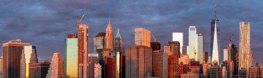 Panoramic view of Manhattan skyline , New York City. USA