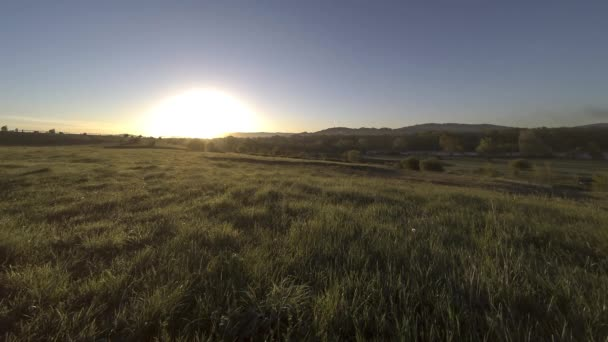 4K UHD mountain meadow timelapse at the summer. Clouds, trees, green grass and sun rays movement.