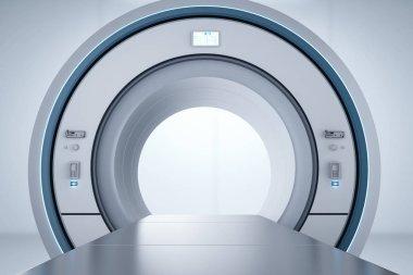 3d rendering mri scan machine or magnetic resonance imaging scan devic