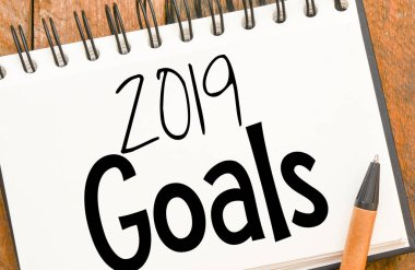 2019 Goals text or notepad