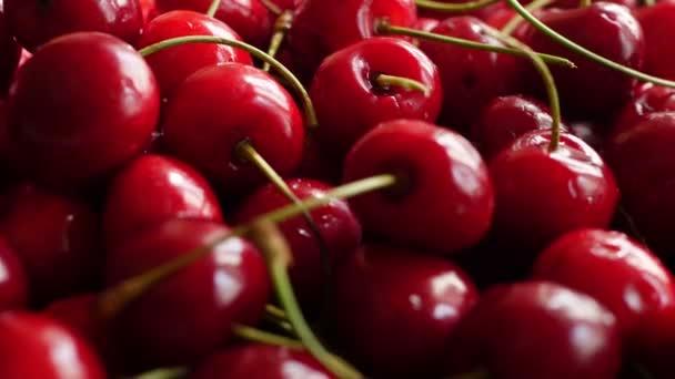Fresh red cherries, close up