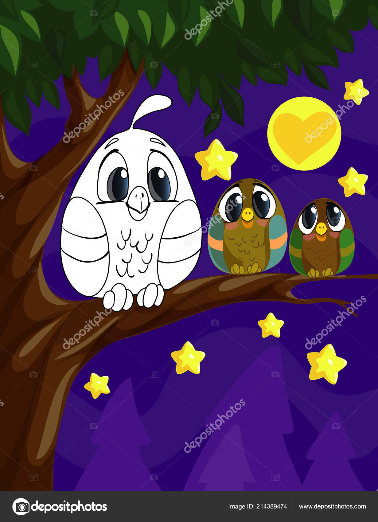 Coloring Book Page For Preschool Children With Colorful Background