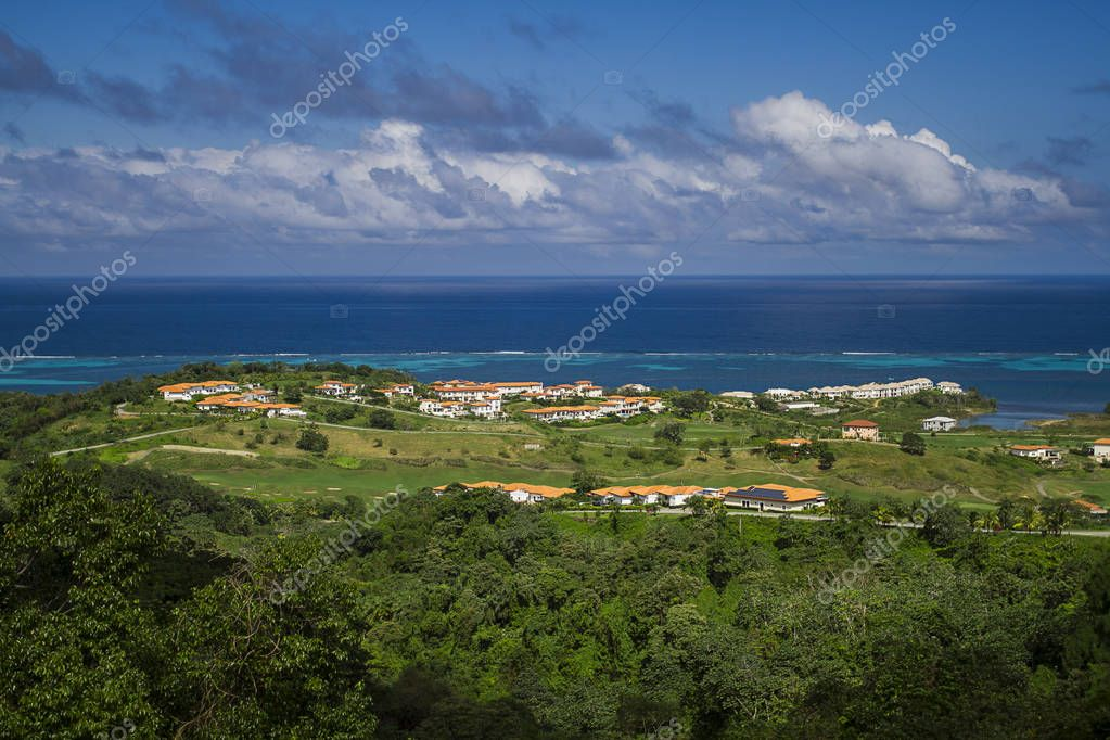 Large private rich village on the island of Roatan