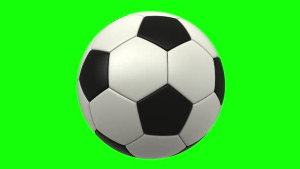 3D vykreslená animace rotujícího fotbalového míče
