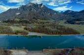 Fotografie See und Berge in der Nähe von Brannenburg, Bayern, Deutschland