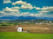 Pohled na obec Liptovský Jan, okres Liptovský Mikuláš, Slovensko