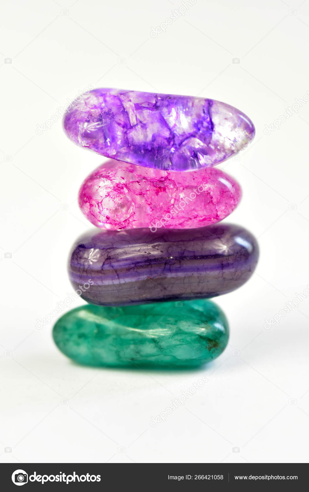 Stones crystals zen — Stock Photo © coconat #266421058