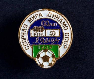 Football club Dynamo Moscow Lev Yashin Badge USSR Soviet retro vintage style