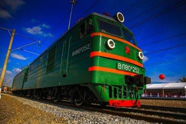 retro Russian electric locomotive