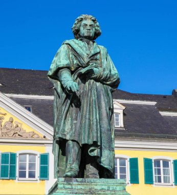Famous Beethoven Monument in front of the Postamt in Bonn, North Rhine Westphalia, Germany