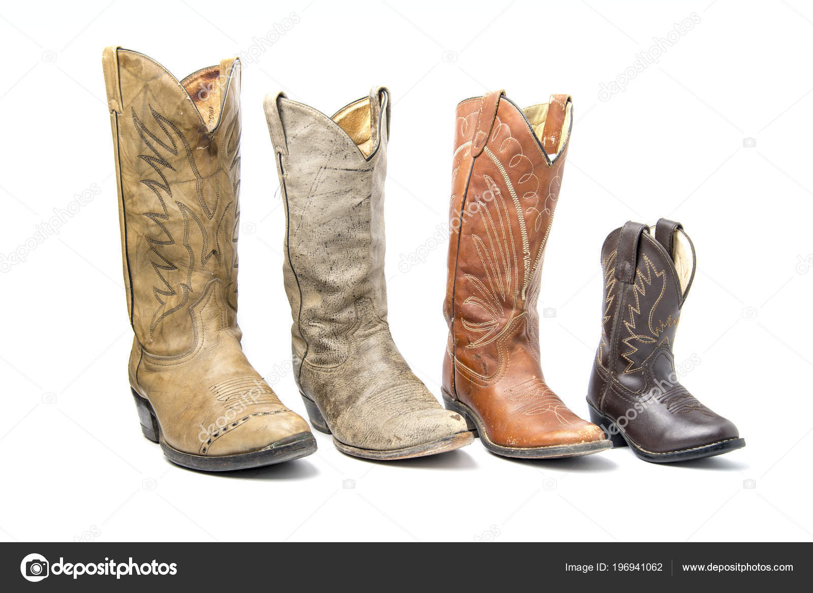 96ded77705a Brown Cowboy Boots Isolated White Background — Stock Photo © bigjom ...