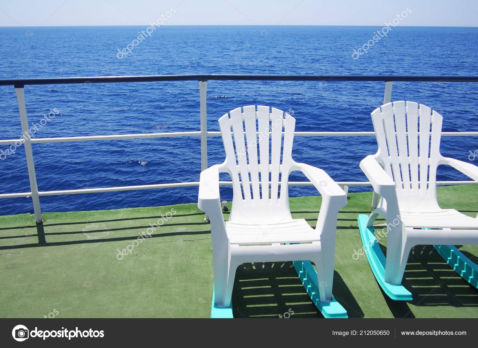 Strange Two Lounge Chairs Deck Pleasure Boat Sea Trip Sunny Summer Creativecarmelina Interior Chair Design Creativecarmelinacom