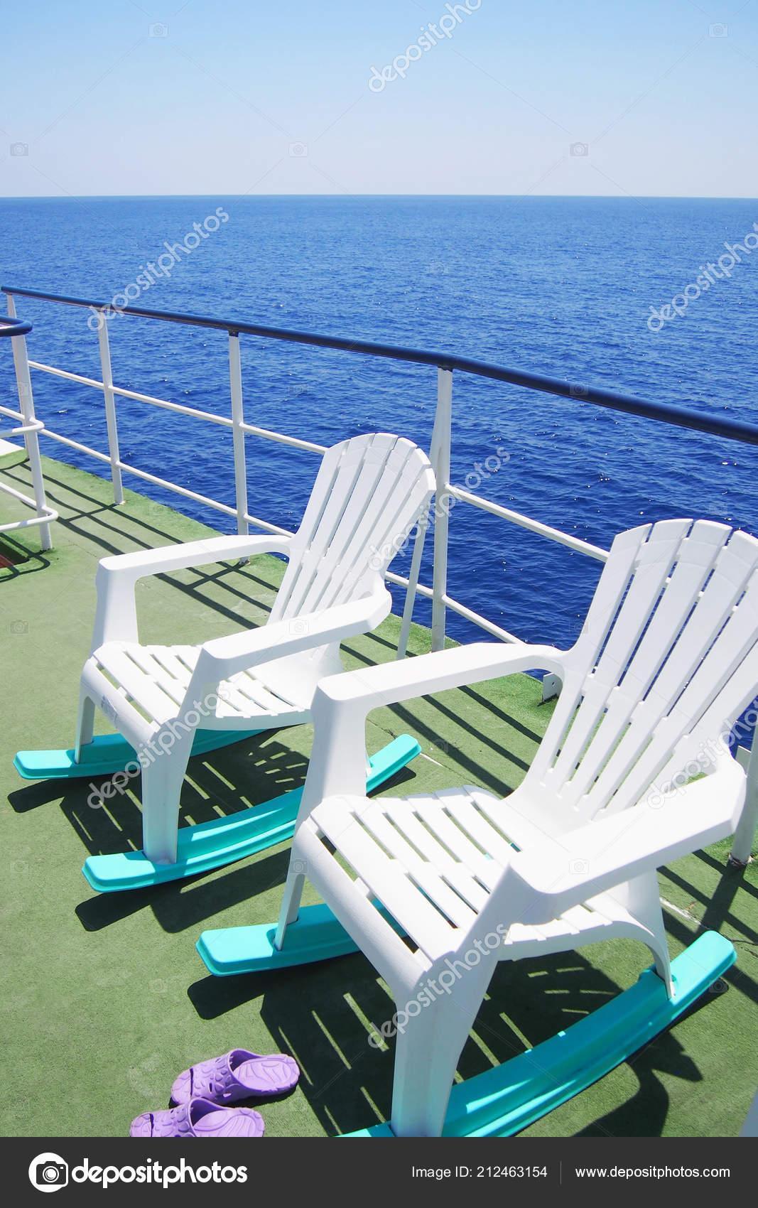 Prime Two Empty Lounge Chairs Deck Pleasure Boat Sea Trip Sunny Creativecarmelina Interior Chair Design Creativecarmelinacom