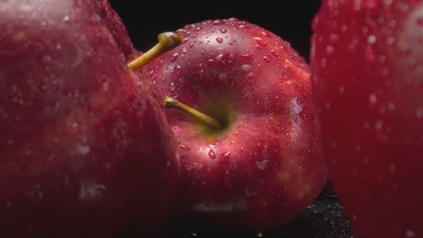 Apples. Fresh red apples in the basket. Ripe fruit. Vegetarianism.