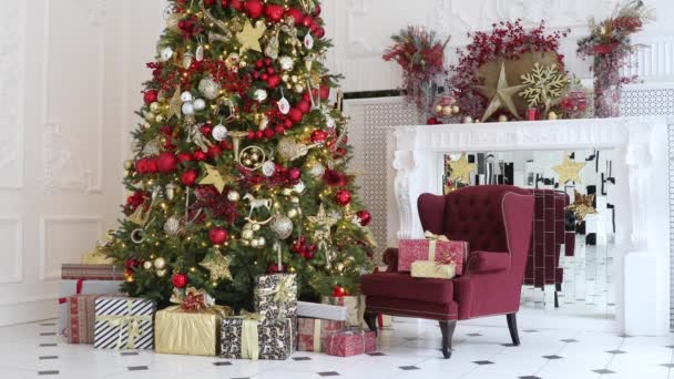 Classic white christmas interior background