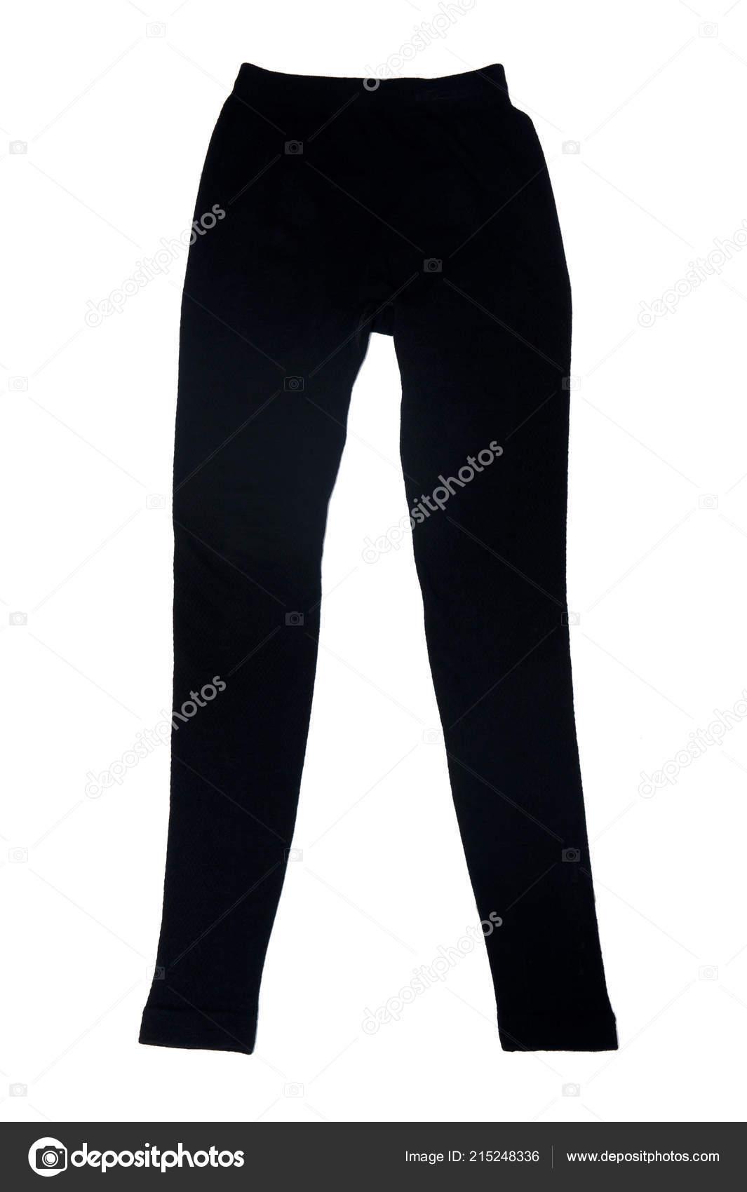 9204c577522 Černé Vlněné Kalhoty Izolovaných Bílém Pozadí — Stock Fotografie ...