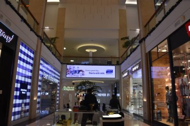 DUBAI, UAE - DEC 8: BurJuman shopping mall in Dubai, UAE, as seen on Dec 8, 2018. It was the second major shopping mall to be opened in Dubai, after Al Ghurair City.