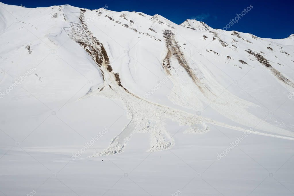 avalanche near the road