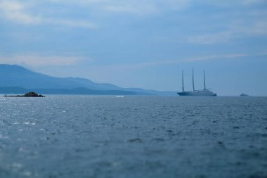 Yacht in the Ionian Sea