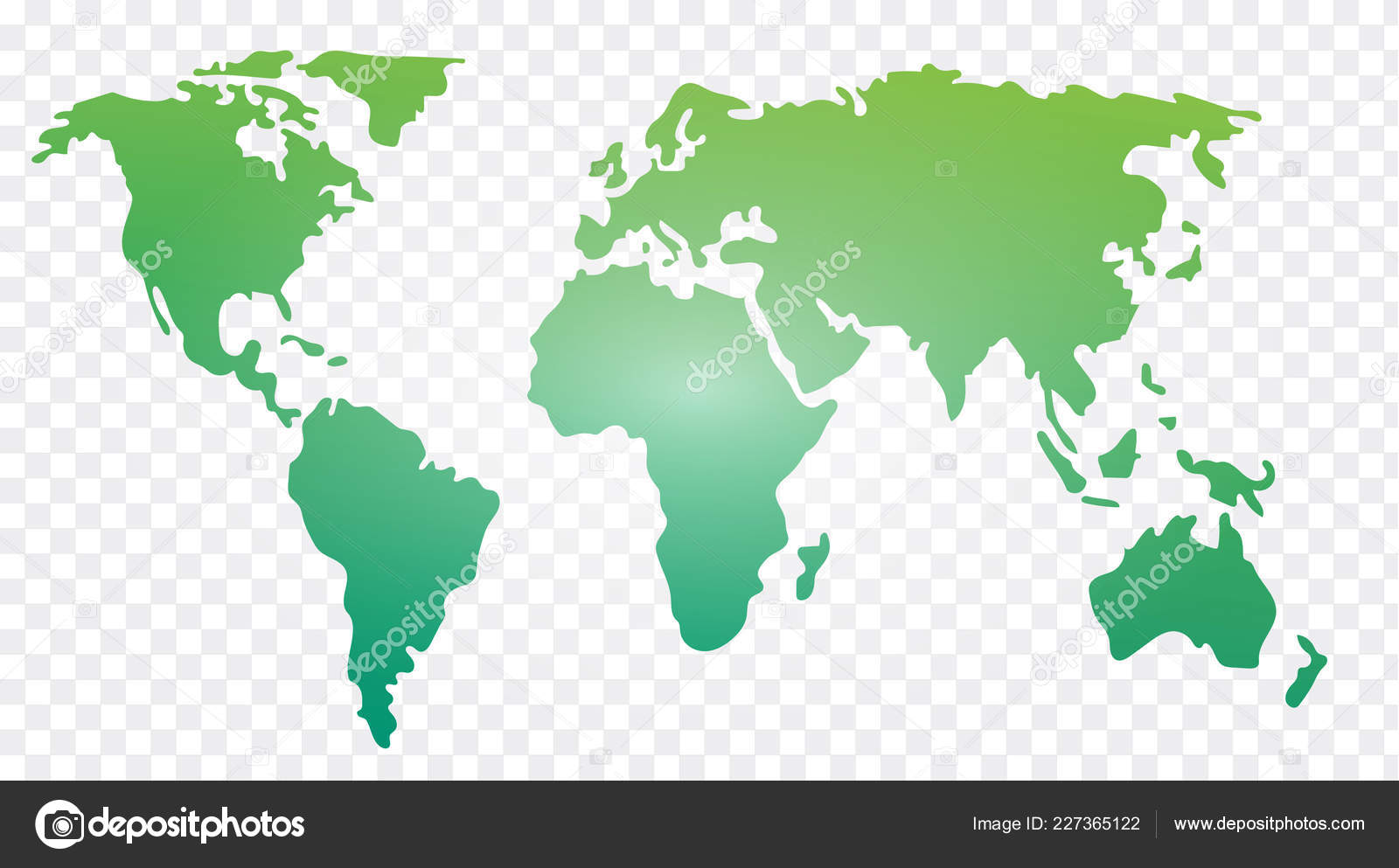 World Map Vector Illustrated Template — Stock Vector