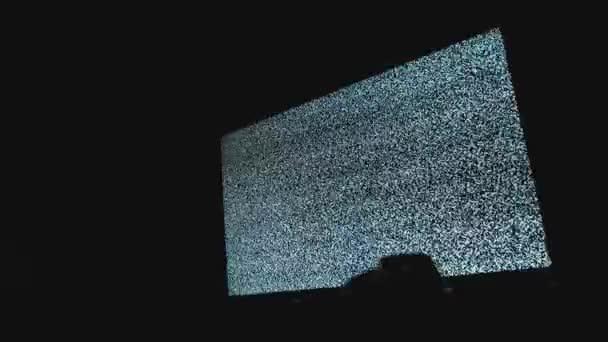 kézi kapcsoló csatornák nem ember zaj televíziós háttérrel. Statikus zaj okozta rossz vételnek televízió képernyőjén. Zaj zavarja a tv képernyőn pixel jel. A statikus zaj a televízió-képernyőn