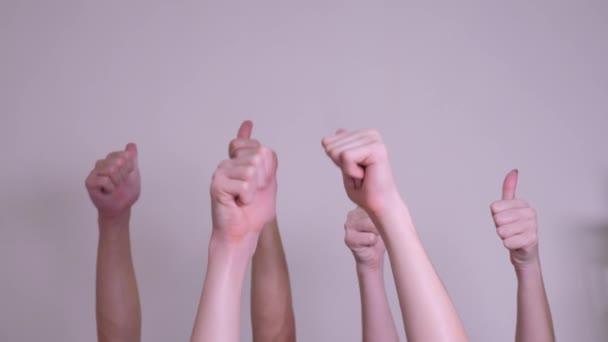 emberek egyetértésével és támogatásával fel ujját fel csapatmunka-szemlélet. tömeg az emberek sok kezet remek-megjelöl kezekkel kifejező egyetértésével és támogatásával. csapatmunka önkéntesség, illetve szavazati életmód