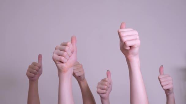 emberek egyetértésével és támogatásával fel ujját fel csapatmunka-szemlélet. a tömeg az emberek sok kezet remek-megjelöl kezekkel kifejező egyetértésével és támogatásával. csapatmunka önkéntesség, illetve szavazati életmód