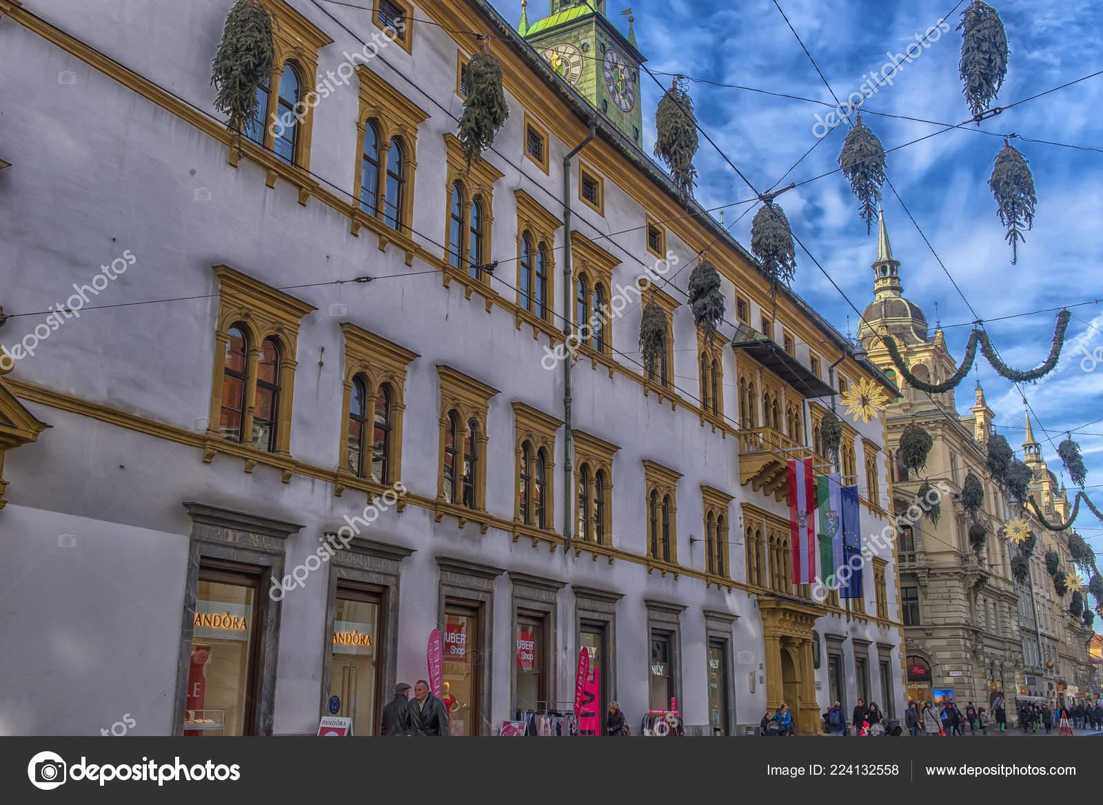 Christmas In Austria Holidays.Graz Austria 2018 Christmas Decorations Streets Graz Advent