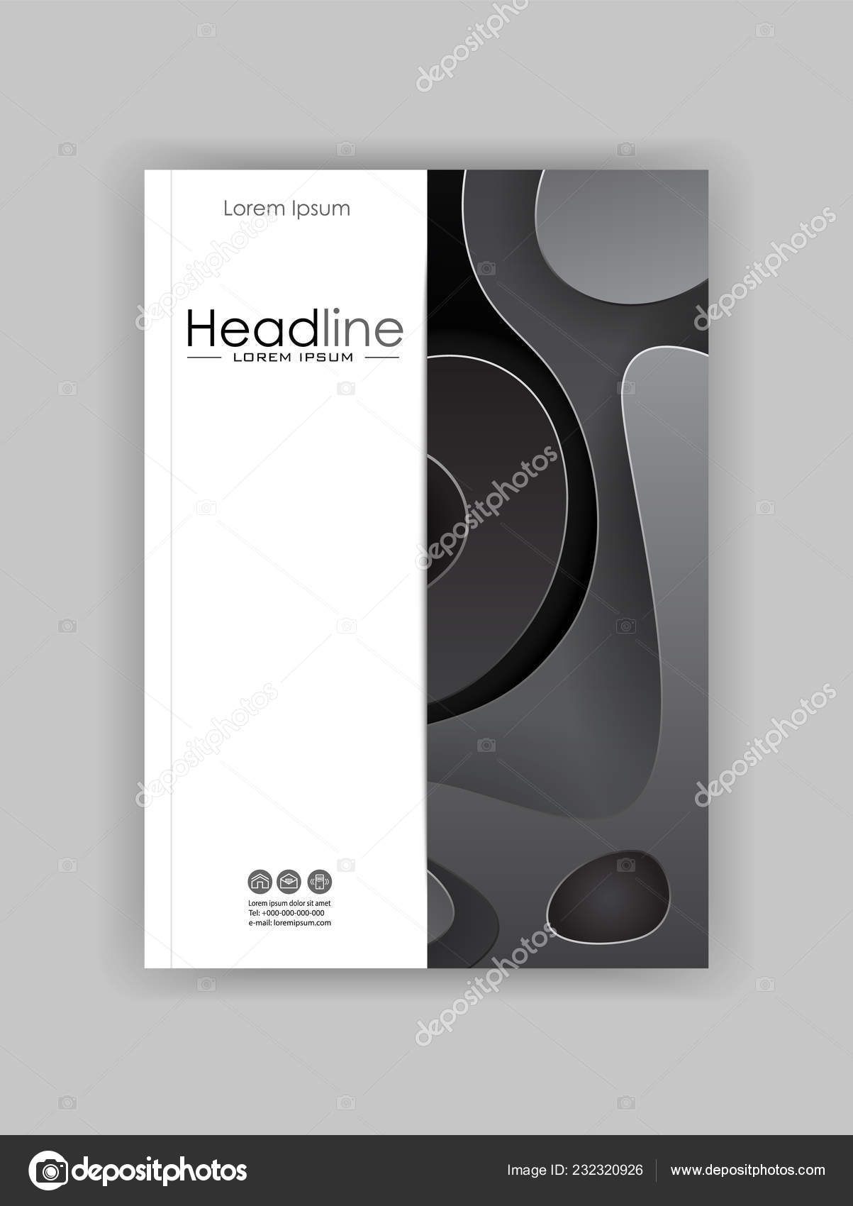 Minimalist Book Covers Book Cover Design Template Minimalist Design Good Journals Conference Banner Stock Vector C Luyali 232320926
