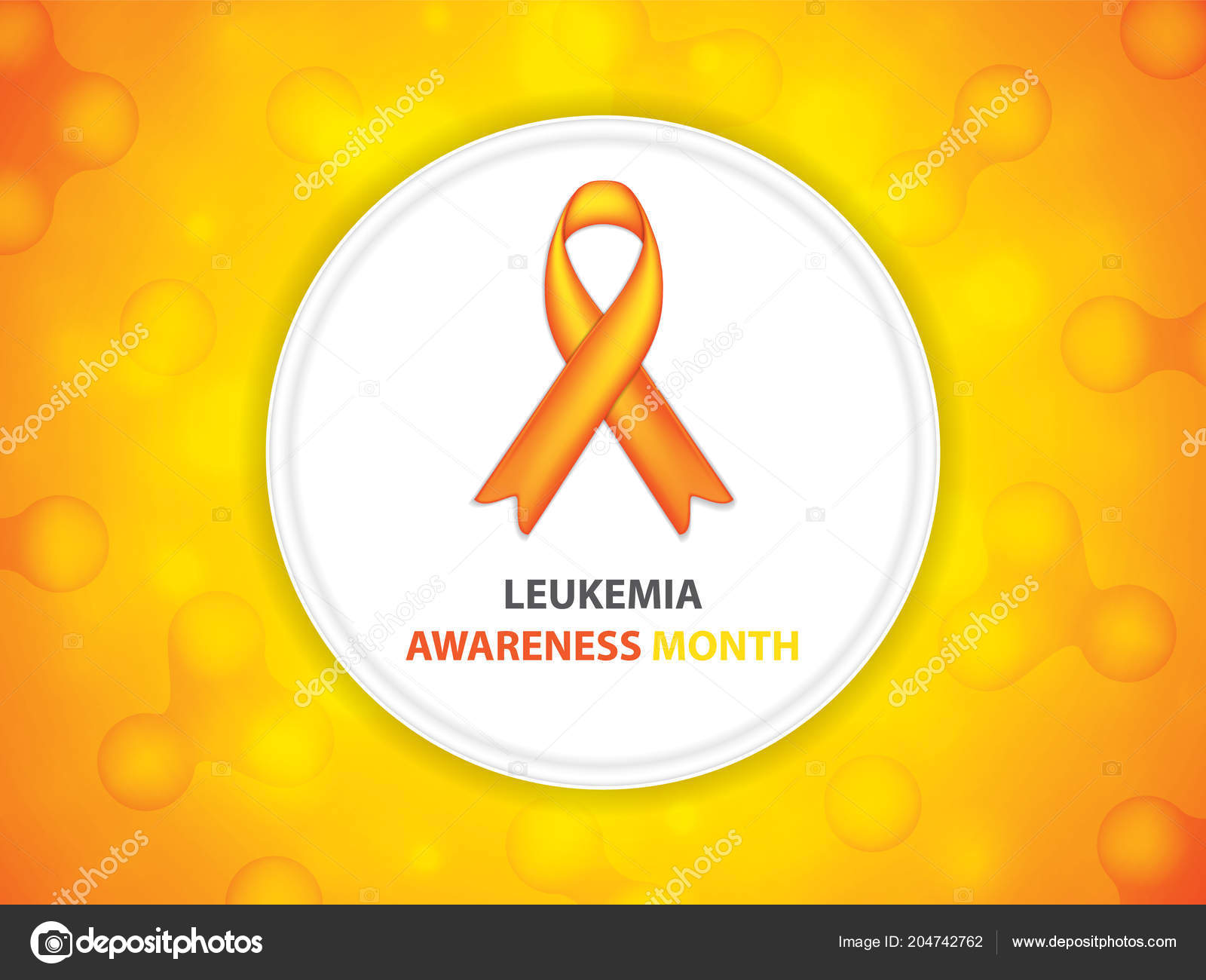 Leukemia Cancer Awareness Month Cancer Ribbon Background Vector