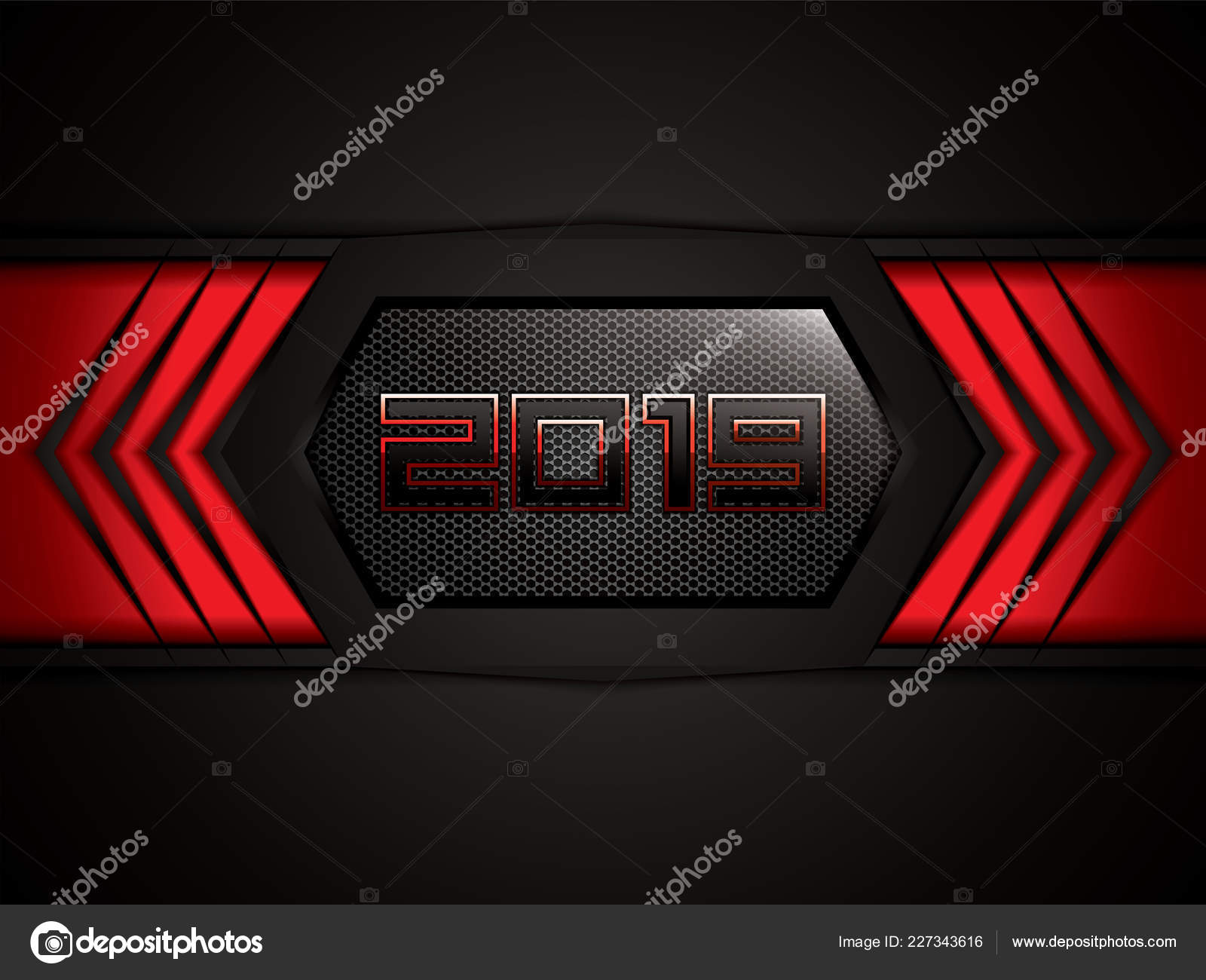 Abstract Black Red Background 2019 Text Vector Illustration Stock Vector C Gigello 227343616