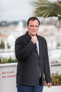 CANNES, FRANCE - MAY 22, 2019: Quentin Tarantino attends photocall for