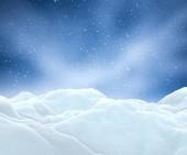 3D činí z zasněžené vánoční krajina