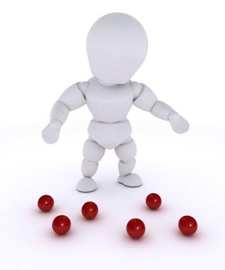 man juggling with red balls-dropped