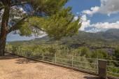 Una vista sulle montagne sopra Palma di Maiorca Spagna