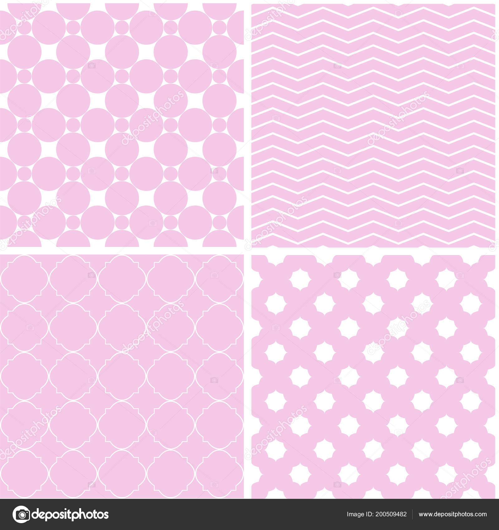 Different Seamless Patterns Ornament Retro Style
