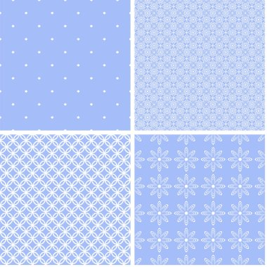 Baby background set of cute seamless patterns