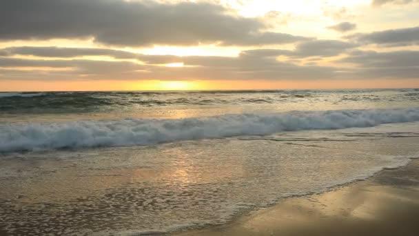 Sunset az Atlanti-óceán partján, Bisacarosse, Franciaország