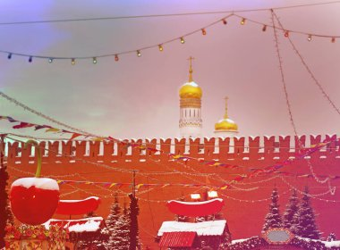 New year holidays in Moscow on red square