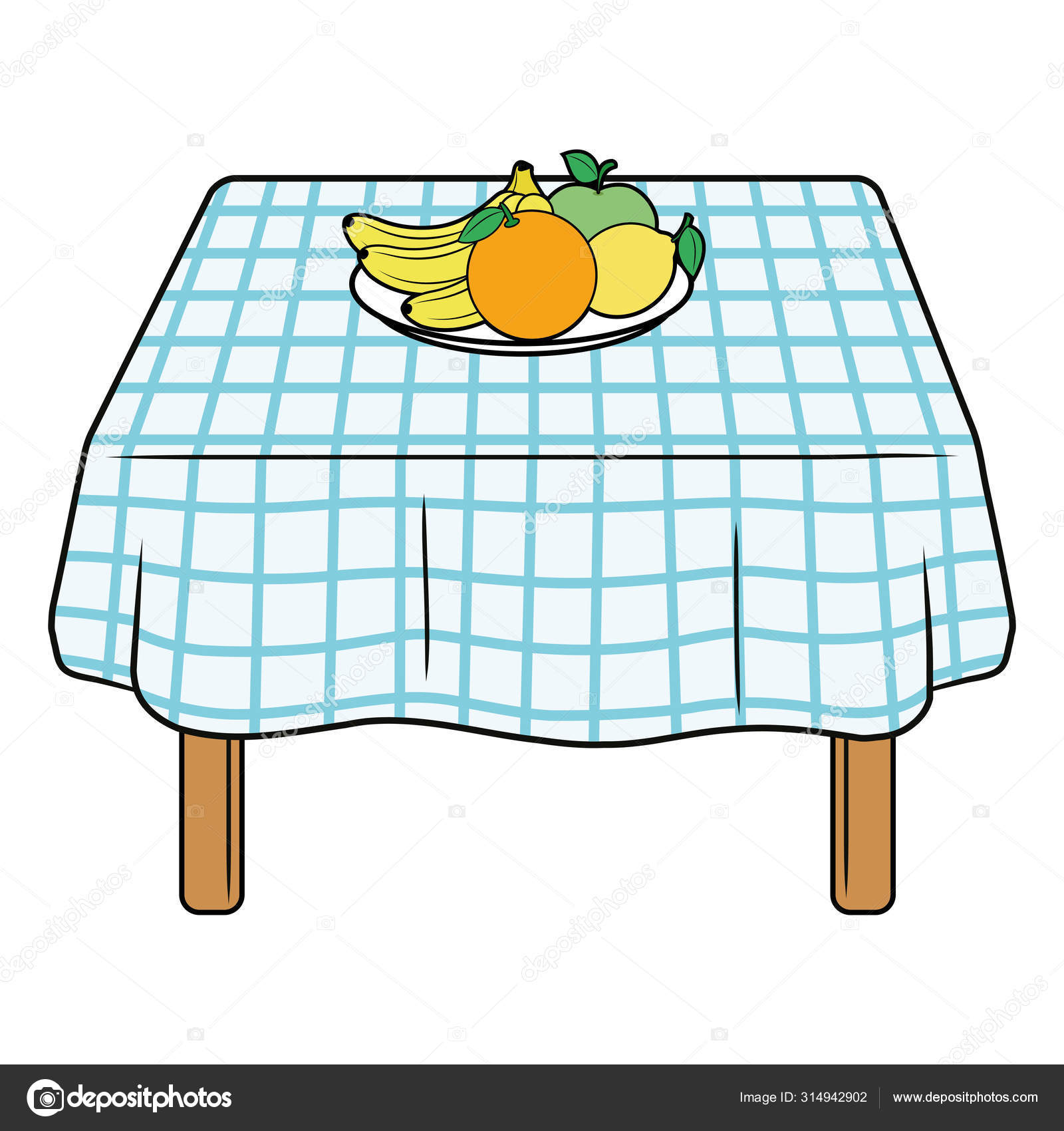 Illustration of a kitchen table 9