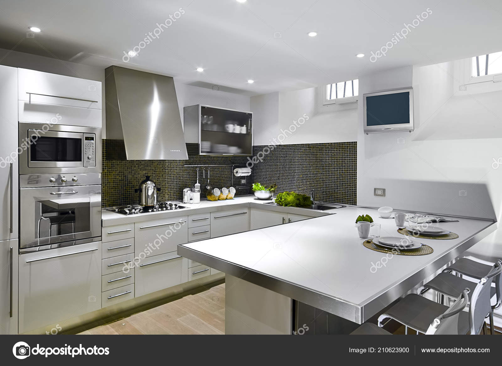 Interiors Shots Modern Kitchen Whose, What Are Stock Kitchen Cabinets Made Of