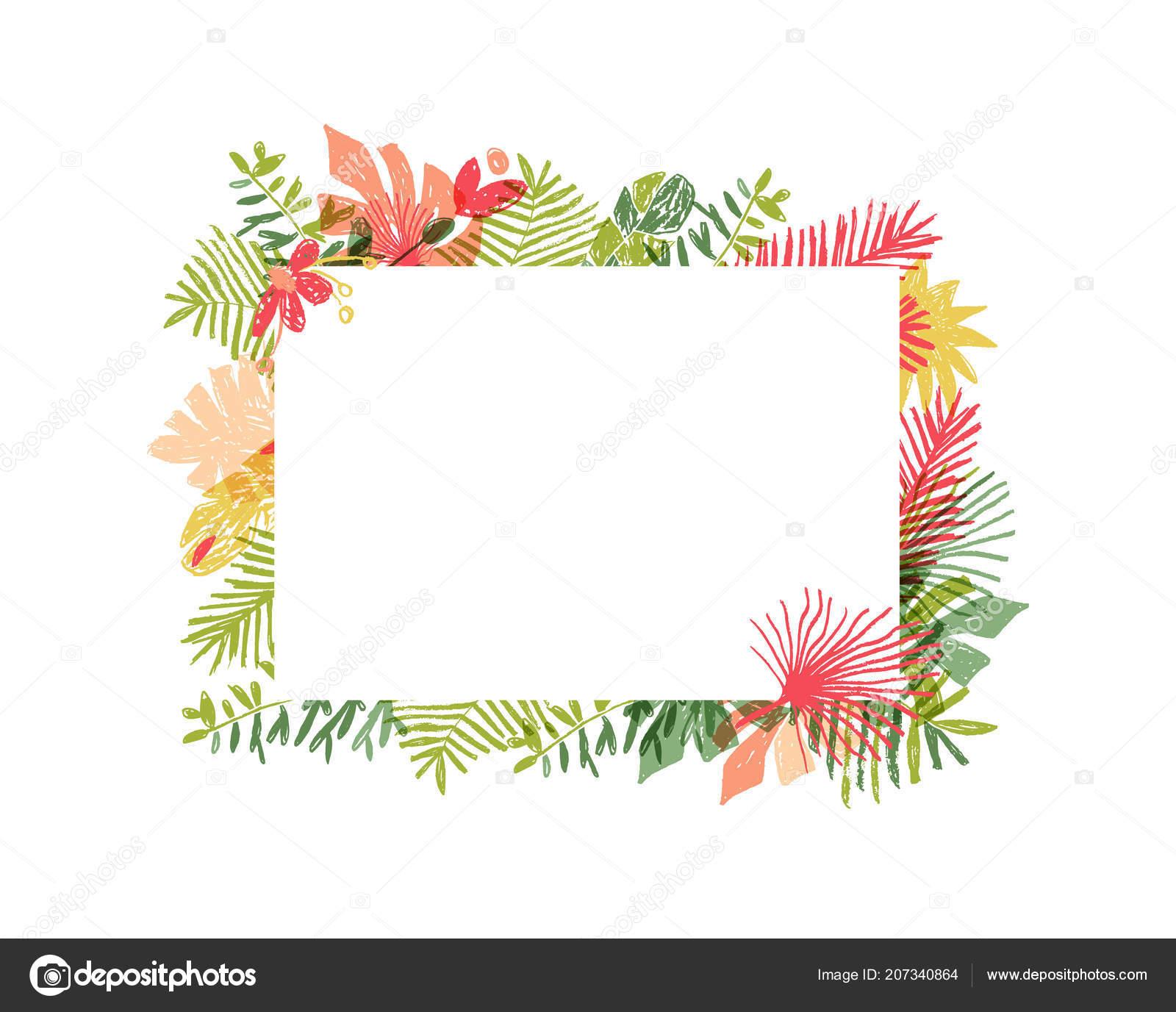composition de fleurs tropicales cadre floral jungle. Black Bedroom Furniture Sets. Home Design Ideas